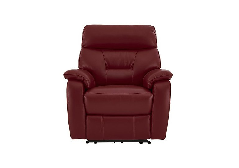 Fontana Leather Recliner Armchair in Go-173e Roan Rouge on Furniture Village