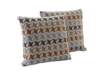 City Loft Pair of Scatter Cushions - Only One Left! in Star Orange on FV