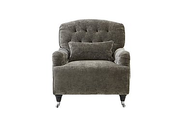 Langham Place Fabric Accent Armchair - Only One Left! in Modena Grey  Dark Feet Col 1 on Furniture Village