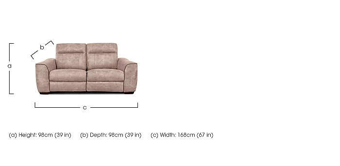 Paloma 2 Seater Fabric Sofa - Only One Left! in  on FV