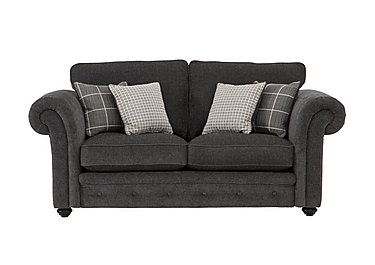 Islington 2 Seater Fabric Sofa in Charcoal / Grey on Furniture Village