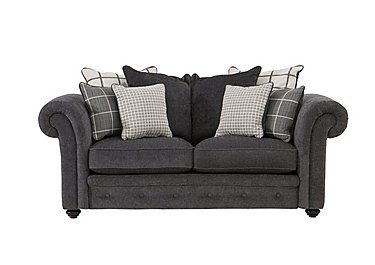 Islington 2 Seater Fabric Pillow Back Sofa in Charcoal / Grey on FV