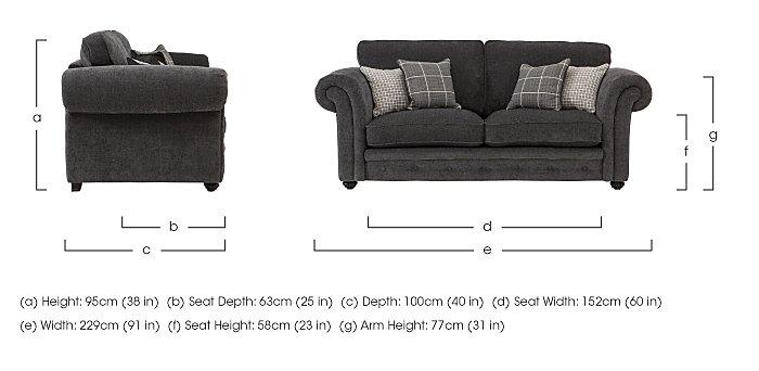 Islington 3 Seater Fabric Sofa in  on Furniture Village