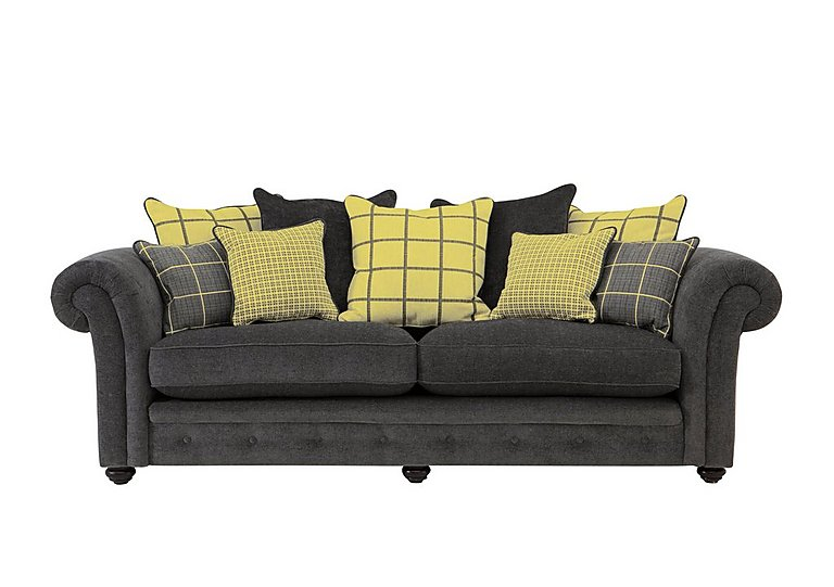 Islington 4 Seater Fabric Pillow Back Sofa