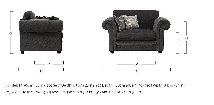 Islington Fabric Snuggler Armchair in  on Furniture Village