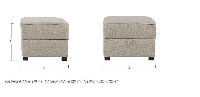 Adora Fabric Storage Footstool in  on Furniture Village