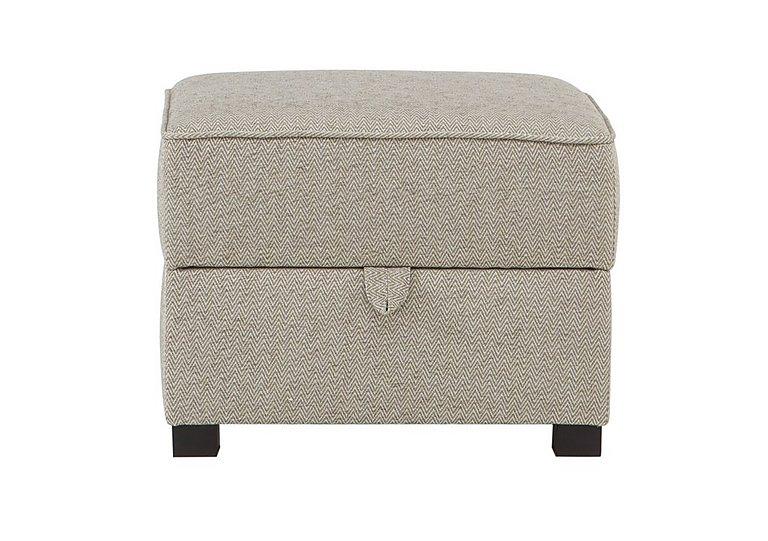 Adora Fabric Storage Footstool in Grey on Furniture Village