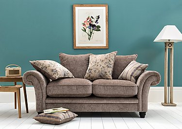 Vera 3 Seater Fabric Pillow Back Sofa in  on FV