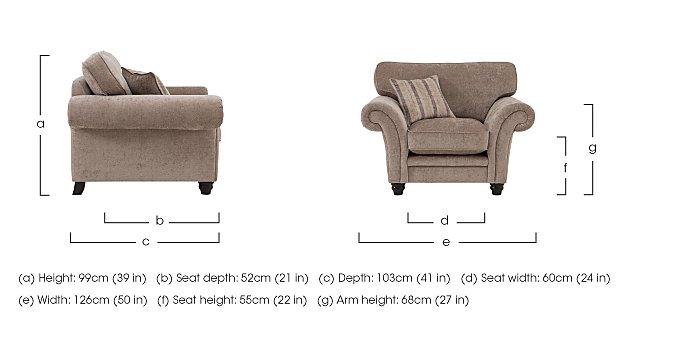 Vera Fabric Armchair in  on Furniture Village