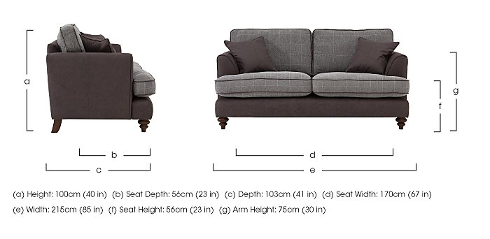 Ayr 3 Seater Fabric Sofa in  on Furniture Village