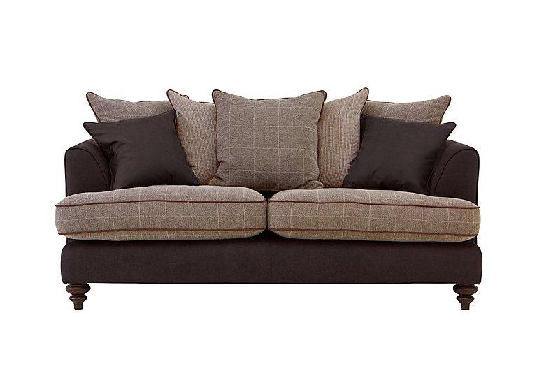 Ayr 3 Seater Pillow Back Fabric Sofa