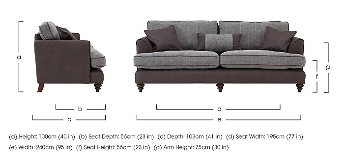 Ayr 4 Seater Fabric Sofa in  on Furniture Village