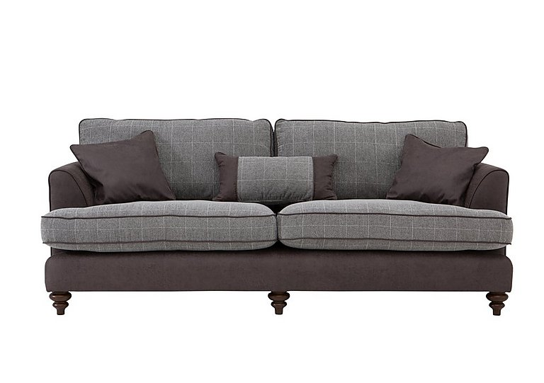 Ayr 4 Seater Fabric Sofa in Charcoal on Furniture Village