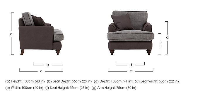 Ayr Fabric Armchair in  on Furniture Village