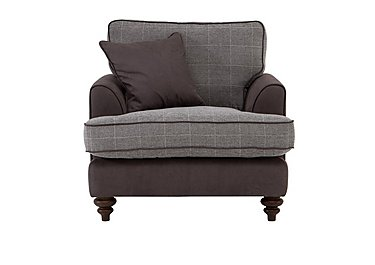 Ayr Fabric Armchair in Charcoal on Furniture Village