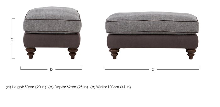Ayr Fabric Footstool in  on Furniture Village