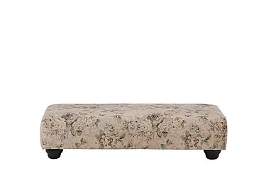 Vera Fabric Footstool in Natural Floral on Furniture Village