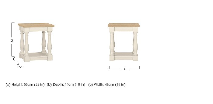 Pierre Lamp Table in  on Furniture Village