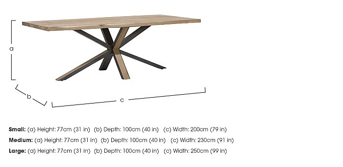 Detroit Starburst Leg Dining Table in  on Furniture Village