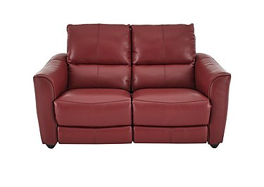 Trilogy 2 Seater Leather Manual Recliner Sofa - Only One Left! in Nc-027c-Claret on Furniture Village