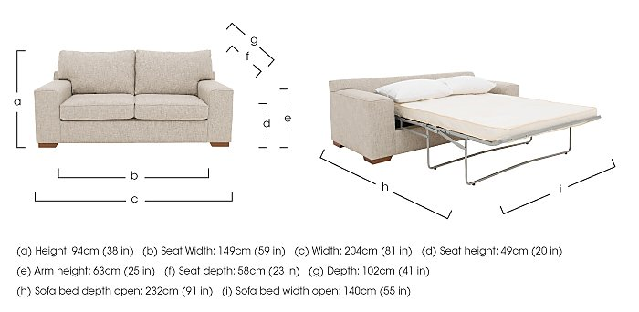The Avenue Collection 5th Avenue 2 Seater Fabric Sofa Bed in  on Furniture Village