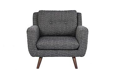 Aldo Fabric Armchair in 5344 Picasso 06 Grey on Furniture Village