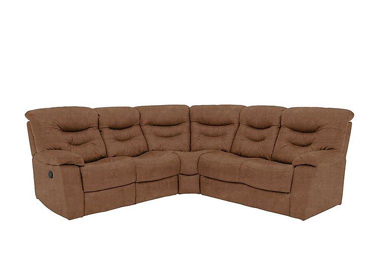 Relax Station Cozy Fabric Recliner Corner Sofa