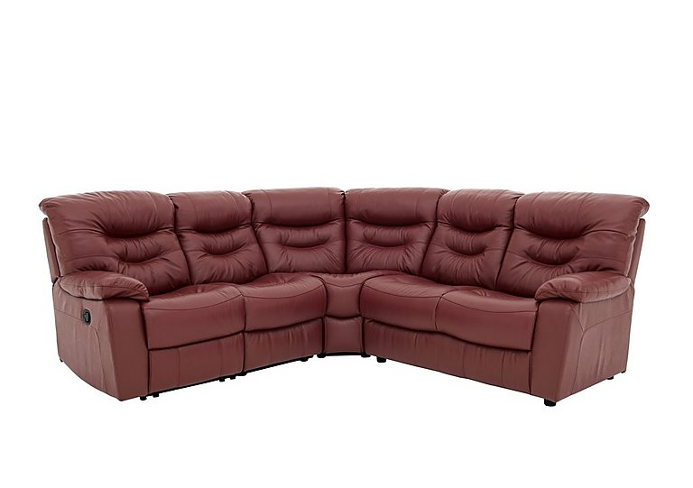 Relax Station Cozy Leather Recliner Corner Sofa