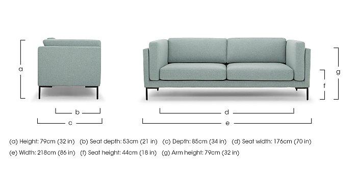 Skye 3 Seater Fabric Sofa in  on Furniture Village
