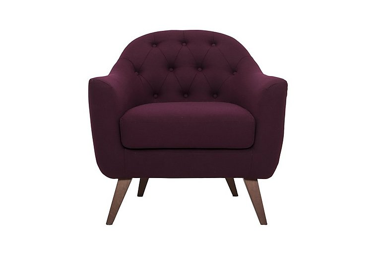 Lexi Fabric Armchair in Andorra 007 Wine on Furniture Village