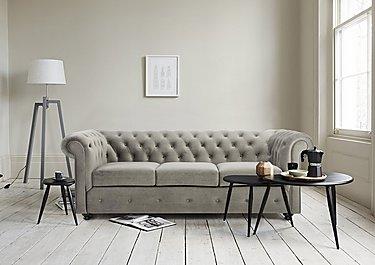 Harper 3 Seater Fabric Sofa in  on Furniture Village