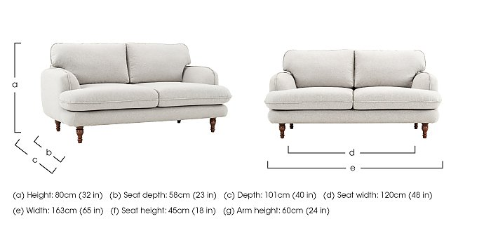 Riley 2 Seater Fabric Sofa in  on Furniture Village