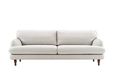 Riley 3 Seater Fabric Sofa in Sunday 39 Light Grey on Furniture Village