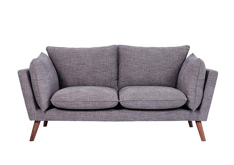 Luca 2 Seater Fabric Sofa in Sense 39 Steel on Furniture Village
