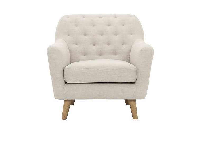 Melody Fabric Armchair in Diego 005 Natural on Furniture Village
