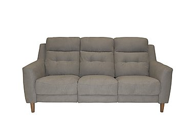 Bijoux 3 Seater Fabric Power Recliner Sofa - Only One Left! in 068 - Lex-R25 Ice on Furniture Village