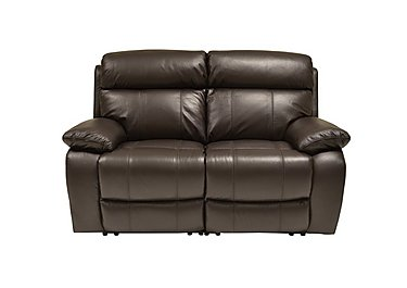 Moreno II 2 Seater Leather Recliner Sofa - Only One Left! in Bv-1748 Dark Chocolate on Furniture Village