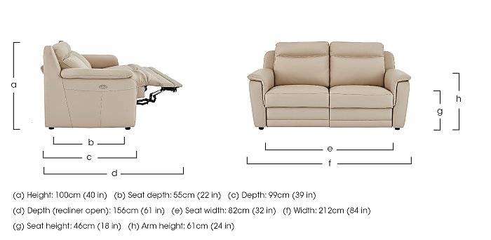 Tara 3 Seater Leather Power Recliner Sofa - Only One Left! in  on Furniture Village