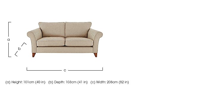 High Street Regent Street 3 Seater Large Fabric Sofa - Only One Left! in  on Furniture Village