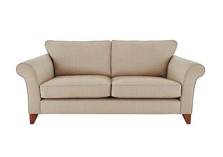 High Street Regent Street 3 Seater Large Fabric Sofa - Only One Left! in Kentmere Putty on Furniture Village