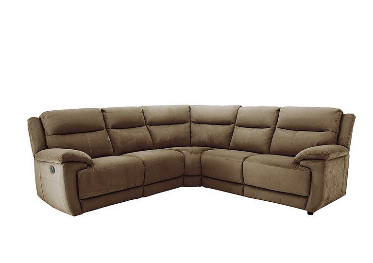 Touch Fabric Recliner Corner Sofa