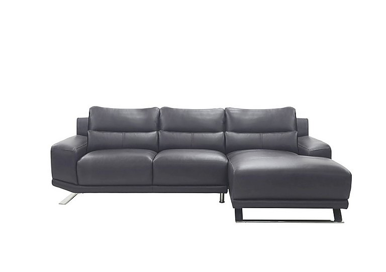 Seville Leather Chaise End Sofa