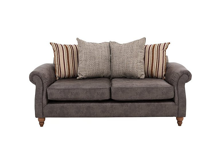 Chinook Faux Leather Seat 2 Seater Scatter Back Sofa