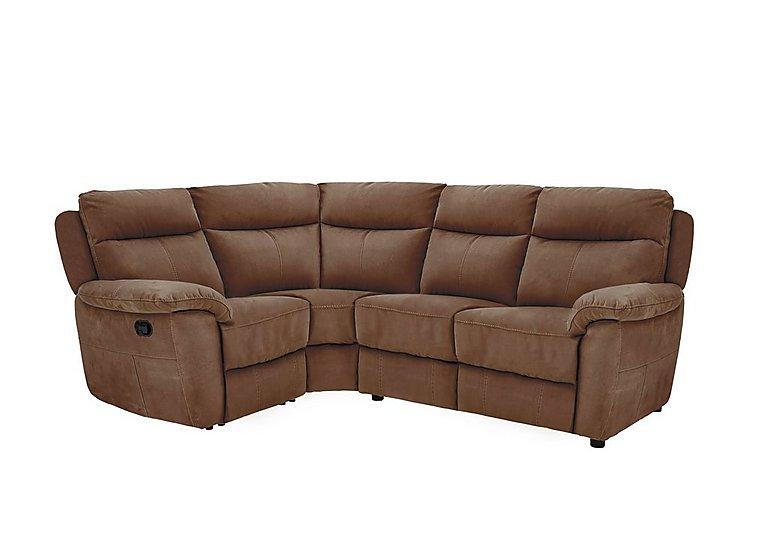 Snug Compact Fabric Recliner Corner Sofa