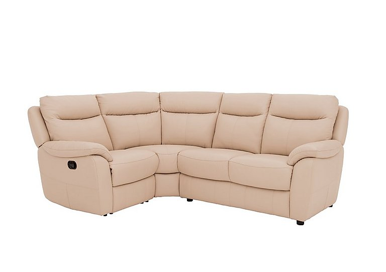 Snug Compact Leather Recliner Corner Sofa