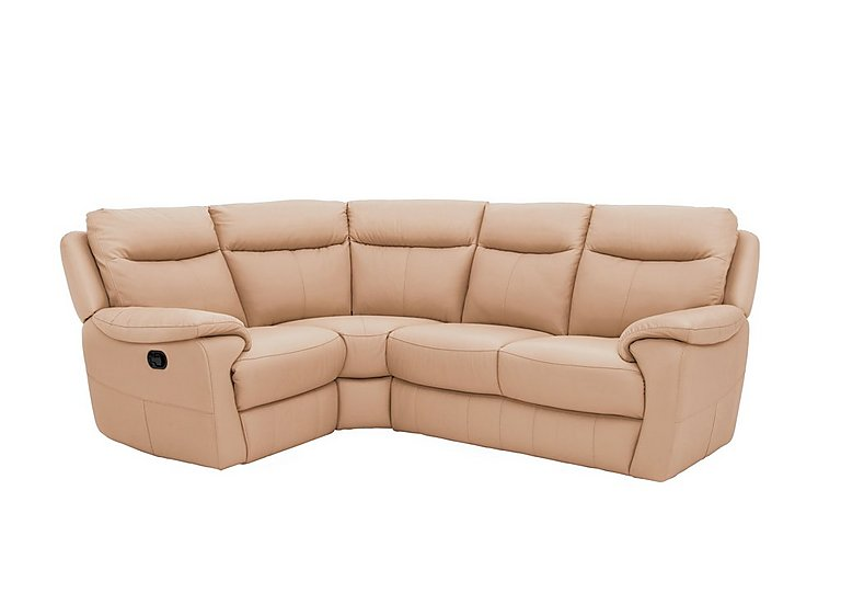 Touch Compact Leather Recliner Corner Sofa