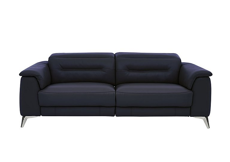 Sanza 3 Seater Leather Recliner Sofa with Power Headrests - Only One Left!