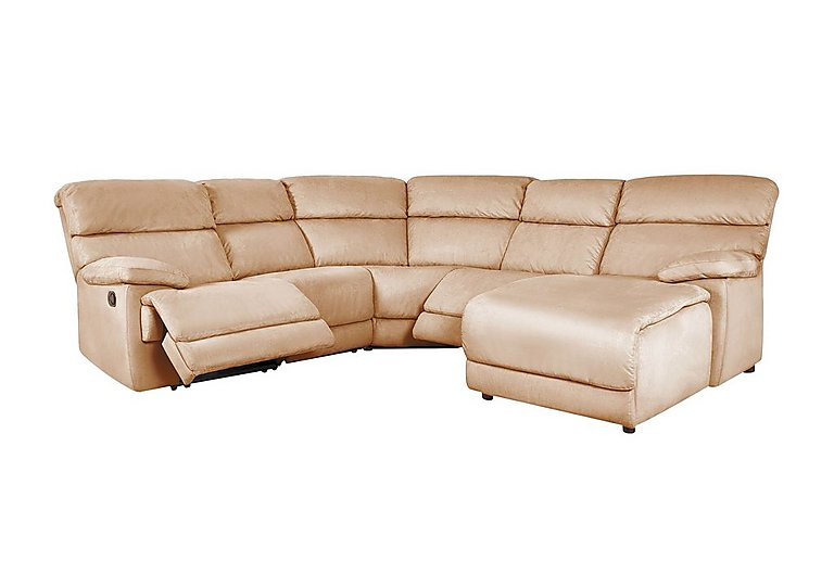Cupola Fabric Recliner Corner Sofa - Only One Left!