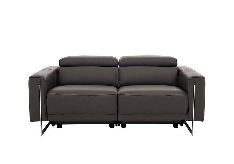 Eleganza 2.5 Seater Leather Sofa with Manual Headrest