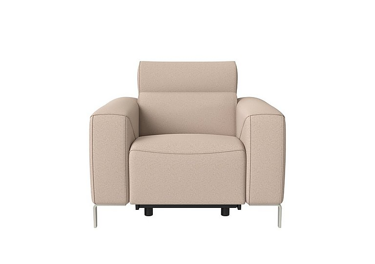 Lusso Fabric Power Recliner Armchair with Power Headrest